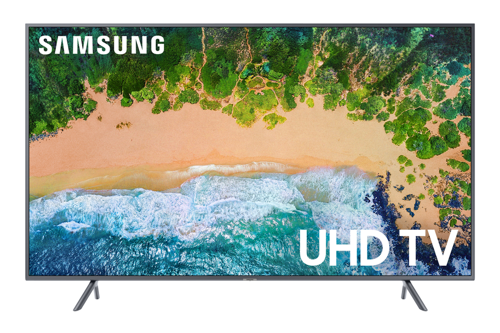 "Click here to buy SAMSUNG 55"" Class 4K (2160P) Ultra HD Smart LED TV (UN55NU7200) with $20 VUDU Credit (2018 Model) by Samsung."