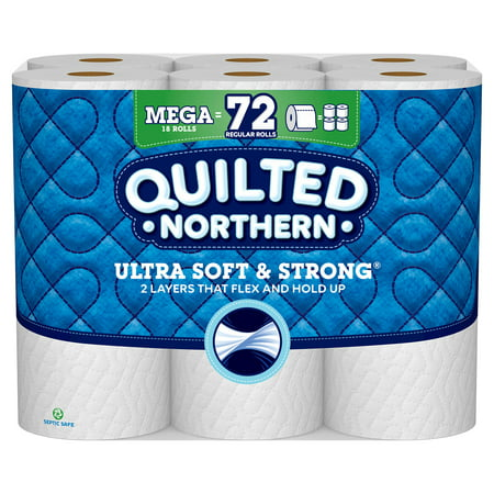 Quilted Northern Ultra Soft & Strong Toilet Paper, 18 Mega Rolls (= 72 Regular Rolls) (Toilet Paper Northern)