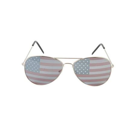 Gravity Shades USA Lens Theme Aviator Sunglasses - image 2 of 2