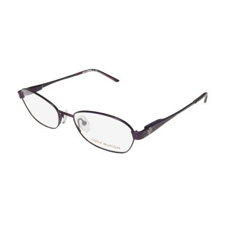 New Tory Burch 1008 Womens/Ladies Designer Full-Rim Purple Prestigious Brand Optical Hip Frame Demo Lenses 51-16-135 Flexible Hinges Eyeglasses/Eye (Branded Optical Frames)
