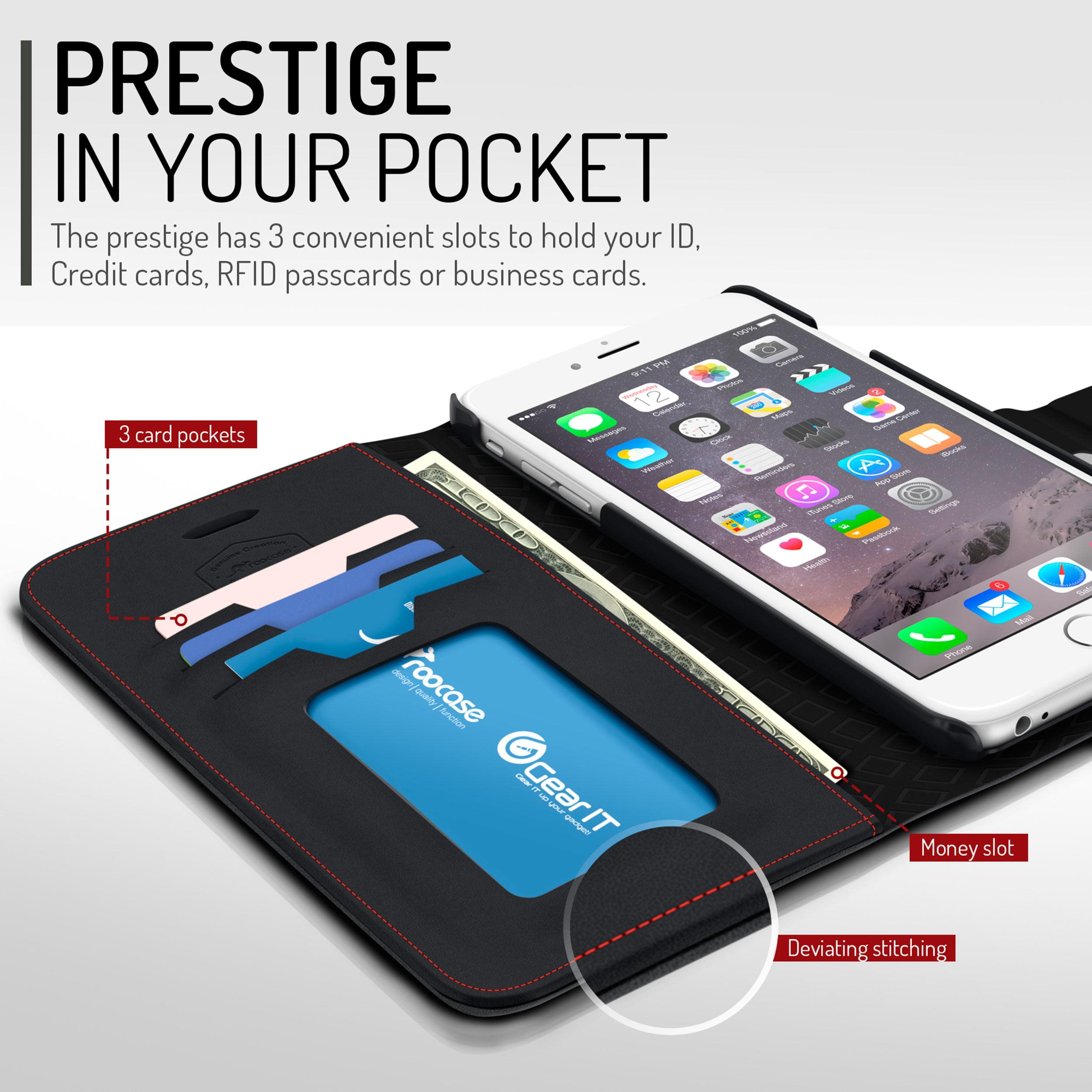 rooCASE iPhone 6s Plus / iPhone 6 Plus Wallet Case, Prestige Premium ...