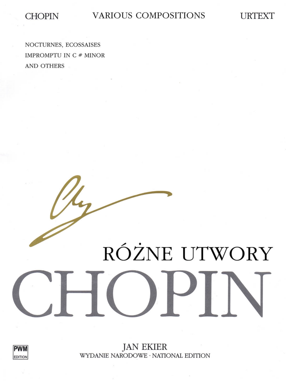 PWM Various Compositions for Piano (Chopin National Edition Volume XXIXB) PWM Series... by