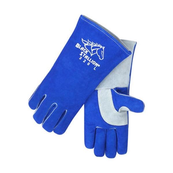Black Stallion 320 CushionCore Split Cowhide Stick Welding Gloves, Sma