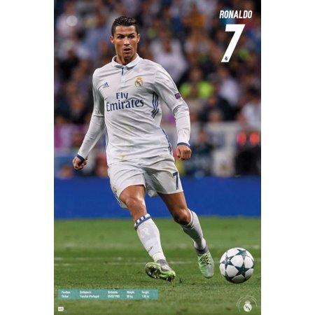 Real Madrid Cristiano Ronaldo Soccer Sports Poster 22X34