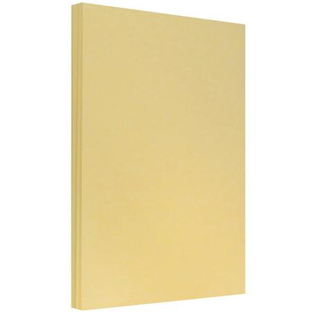 JAM Paper Parchment Legal Size Paper, 8.5 x 14, 24 lb Antique Gold Recycled, 100 Sheets/pack