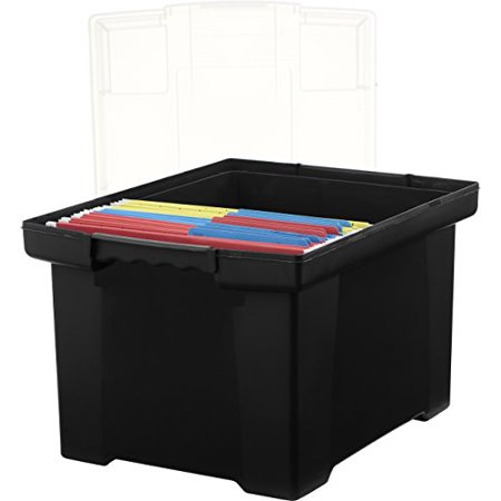 storex plastic file tote storage box with snap on lid With letter legal size plastic storage tote