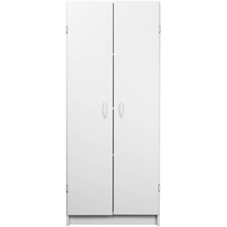 Double Door Utility Cabinet - ClosetMaid White Pantry Cabinet, White