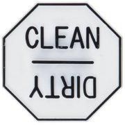 Fox Run Dishwasher Magnet Back Clean / Dirty Reminder Plastic Material 5935