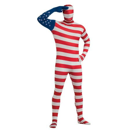 USA Flag Skin Suit Costume for Adults](Gambit Costume For Sale)