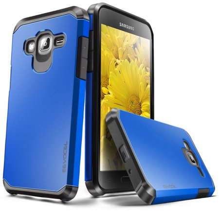 Dual Pocket Case - Galaxy J3 / Galaxy Amp Prime Case, Evocel [Lightweight] [Slim Profile] [Dual Layer] [Smooth Finish] [Raised Lip] Armure Series Phone Case for Samsung Galaxy J3 / Galaxy Amp Prime, Brilliant Blue