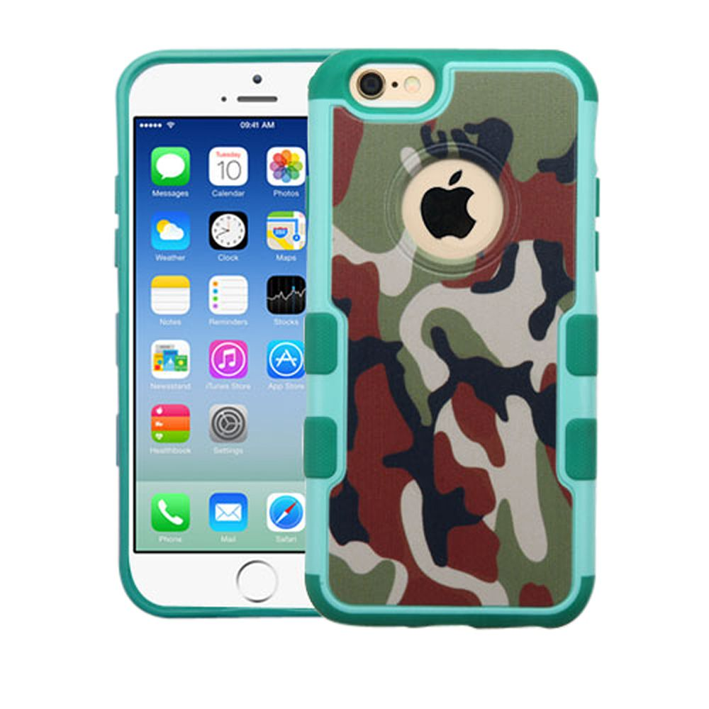Insten Camouflage Hard Cover Case For Apple iPhone 6/6s - Green/Black - image 3 de 3