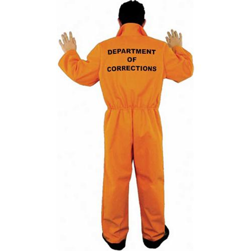 Adult Orange Convict Costume Charades 1421