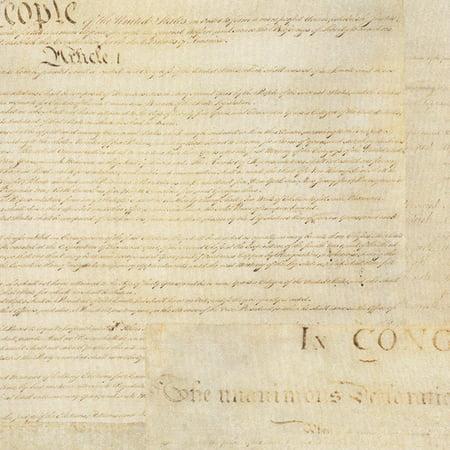 Robert Kaufman Patriots Digital Antique American Constitution by the Yard ()