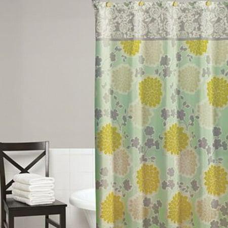 Walmart Credit Card Review >> Home Classics Flower Shower Fabric Shower Curtain Blue