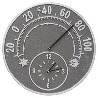 Whitehall Products Sunface Floating Ring 21-in. Indoor/Outdoor Wall Clock