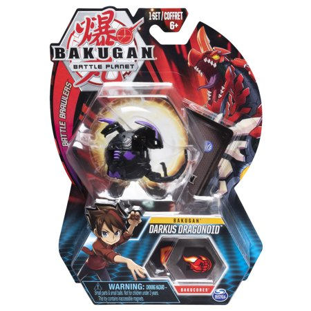 Bakugan, Darkus Dragonoid, 2-inch Tall Collectible Action Figure and Trading Card, for Ages 6 and Up ()