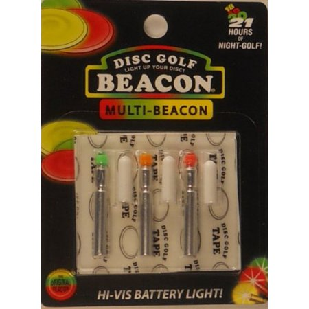 Disc Golf Beacon Light 3-Pack - Multi-Color, Package includes 3 Beacons,  light diffusion caps, and tape  Choose 3 of the same coloror select the  ,  By