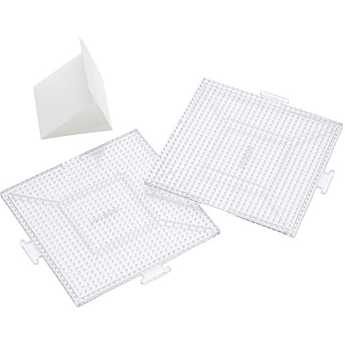 Perler Replacement Pegboards, 2-Pack, Large Clear Square