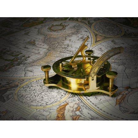 LAMINATED POSTER Sundial Gauge Technology Brass Mobile Sundial Poster Print 24 x 36