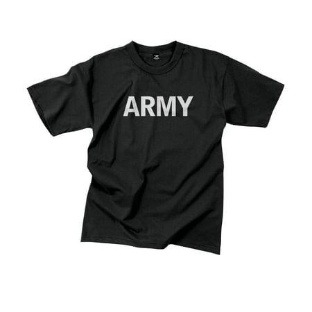 Wait Training T-shirt - Military Black Physical Training T-Shirt