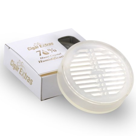 Round 70 Percent Humi Crystal Gel Humidifier  50 Cigar Capacity