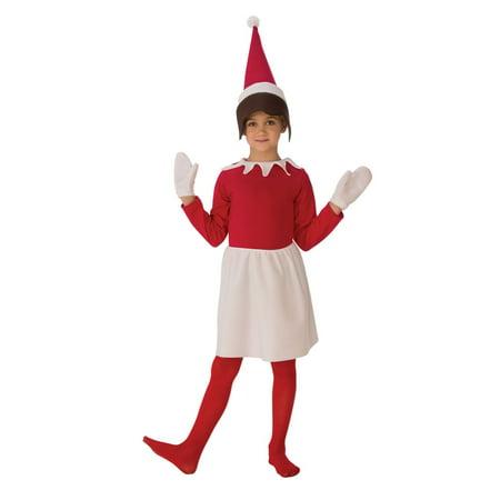 Halloween Sitting Elf Girl's Costume - Elf Girl Costume