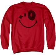 Smiley World Fight Club Mens Crewneck Sweatshirt