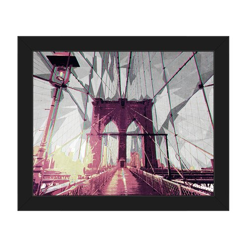 Click Wall Art 'Apple Bridge' Framed Graphic Art