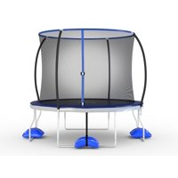 Trujump 10ft Round Trampoline and Tru-Steel Enclosure Combo with Water Anchor System, Meets or Exceeds ASTM Safety Standards