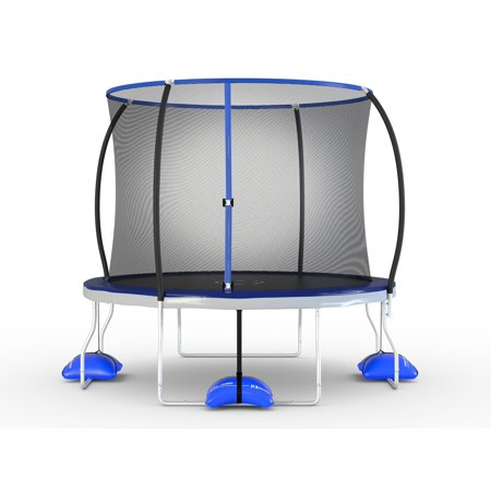 Splash Water Trampoline (Trujump 10ft Round Trampoline and Tru-Steel Enclosure Combo with Water Anchor System, Meets or Exceeds ASTM Safety Standards )