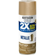 Gold, Rust-Oleum American Accents 2X Ultra Cover, Metallic Spray Paint, 11 oz