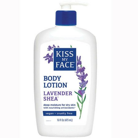 Kiss My Face Moisturizer with Lavender and Shea Butter, Body Lotion, 16 Oz