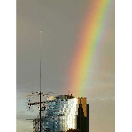 Peel-n-Stick Poster of Rainbow Phenomenon Rain Farbenspiel Sunshine Poster 24x16 Adhesive Sticker Poster Print](Rainbow Sunshine)