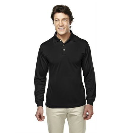 - Tri-Mountain Performance Escalate 658 Pique Long Sleeve Golf Shirt, 2X-Large, Black