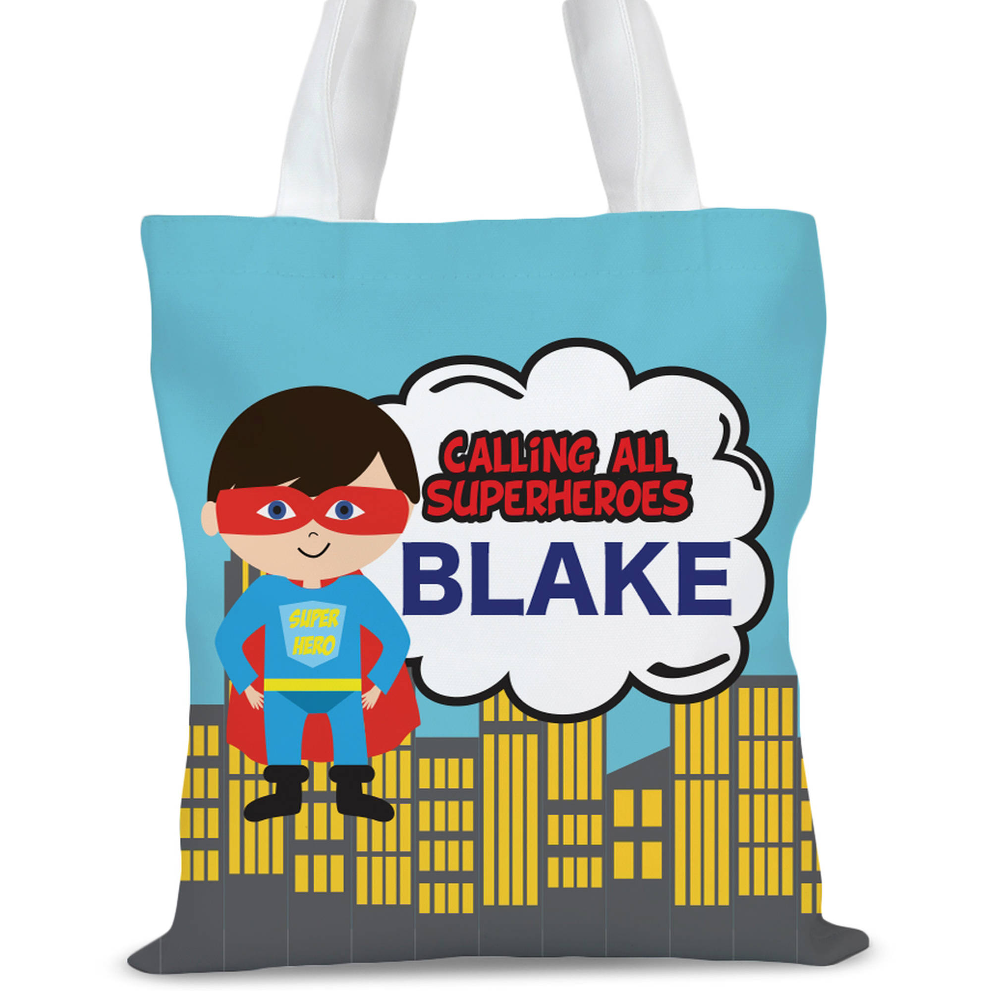 """Summer Holidays Custom Tote Bag, Sizes 11"""" x 14"""" and 14.5"""" x 18"""""""