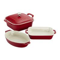 Staub Ceramics 4-pc Baking Dish Set - Cherry