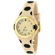 Kate Spade New York Women's New York Rumsey Beige and Black Polka Dot Rubber Watch 1YRU0611