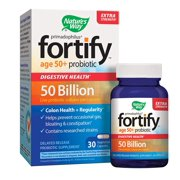 Nature's Way Primadophilus Fortify Age 50+ Probiotic, Digestive Health*, Extra Strength, 50 Billion Active Cultures, Guaranteed Potency, Delayed Release,.., By Natures Way