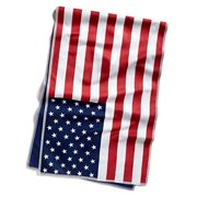 mission hydroactive original microfiber large cooling towel, usa flag, 10 x 33