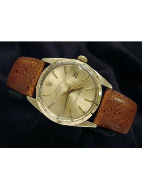 34e958bcdf18 Product Image Pre-Owned Mens Rolex 14K Gold Shell Date Champagne 1550 (SKU  6074277BMT)