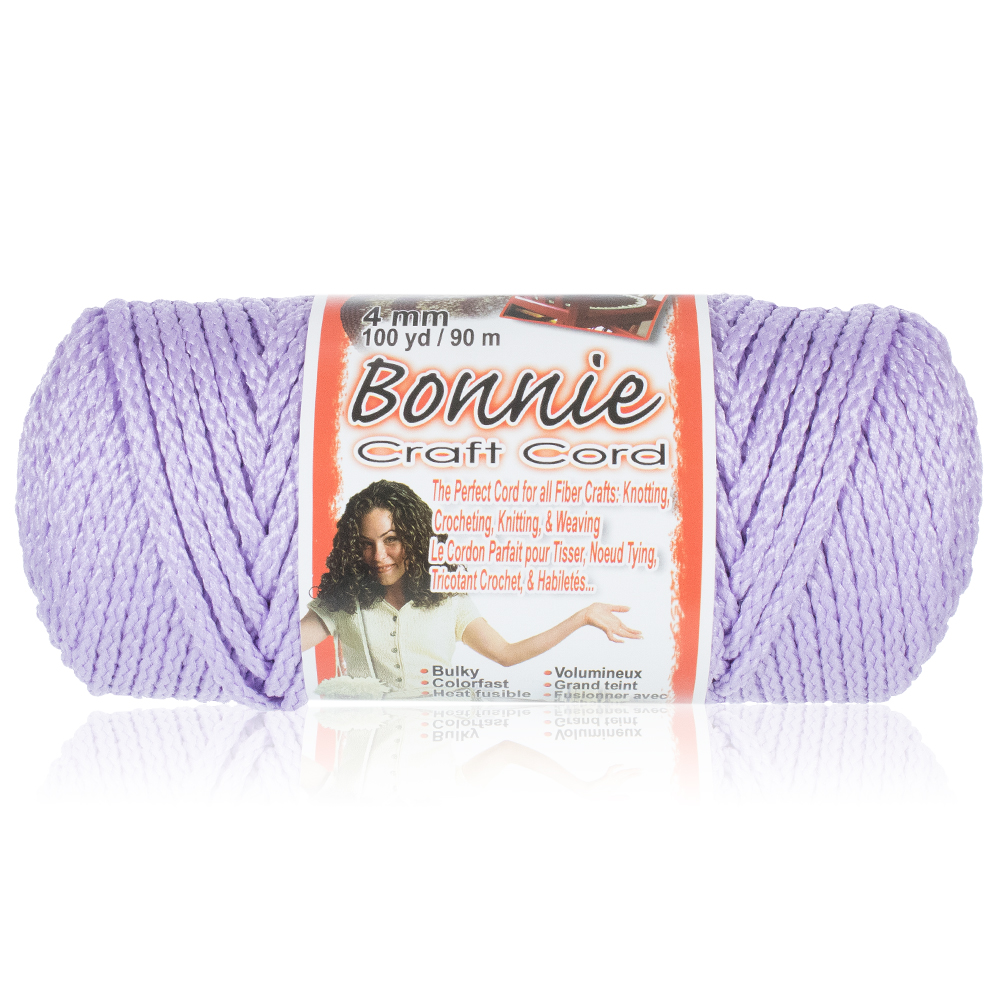 Craft County Bonnie Macrame Cord - 4mm - 100 yd Lengths - Various Colors
