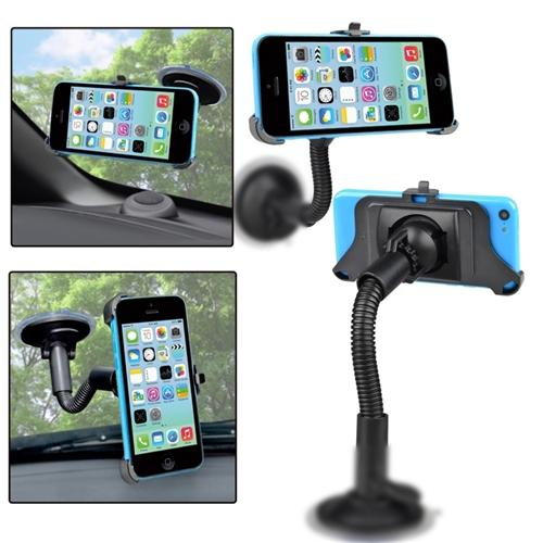 Insten Car Windshield Suction Mount Stand Holder Kit 360°ROTATE Bundle For Apple iPhone 5c New
