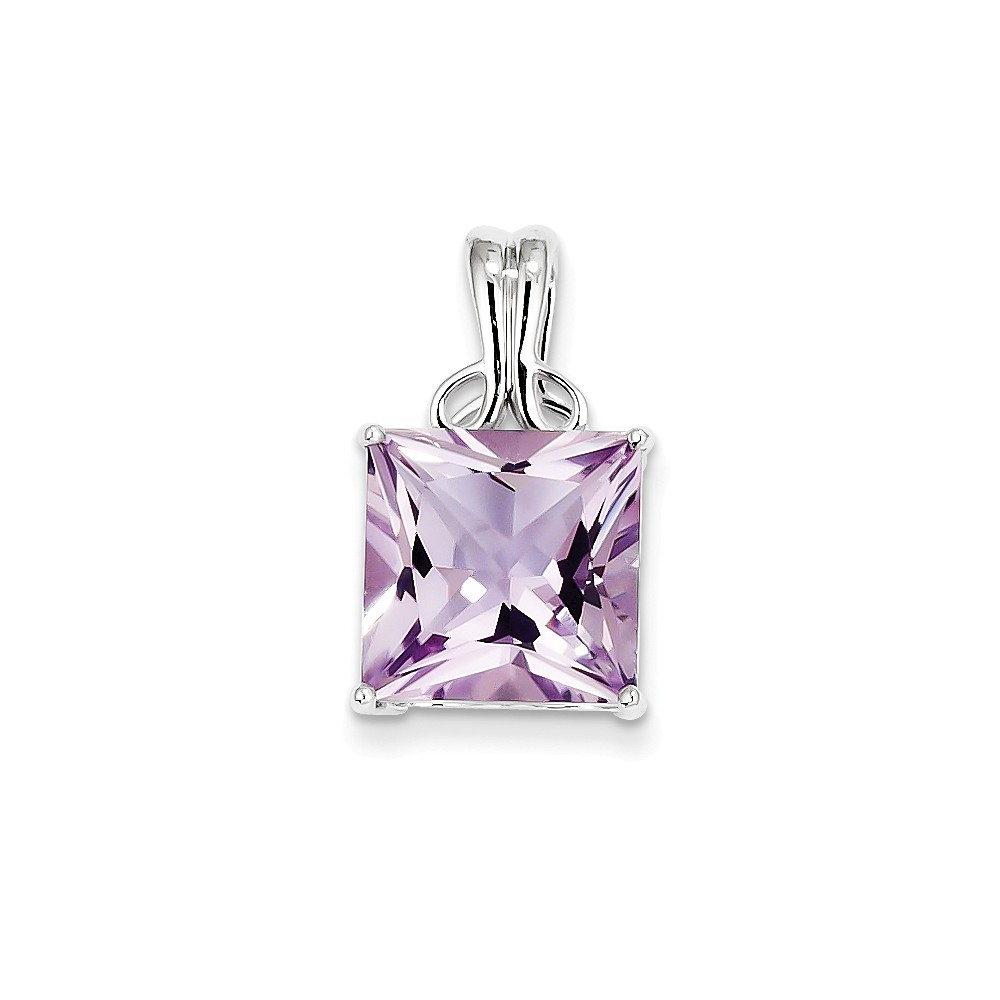 Sterling Silver Pink Quartz Pendant. Gem Wt- 6.54ct