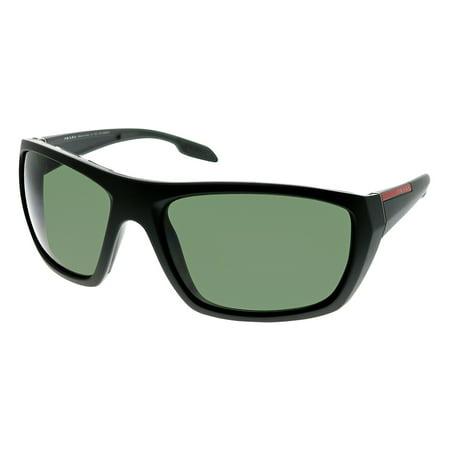Prada Linea Rossa Polarized Green Rectangular Men's Sunglasses PR-PS06SS-1BO5X1-61