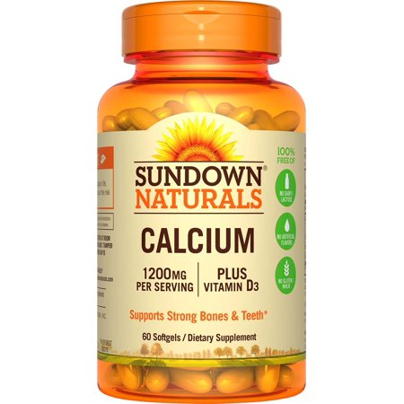 - Sundown Naturals Calcium + Vitamin D3 Softgels, 1200 Mg, 60 Ct
