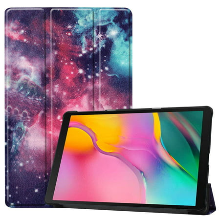 101 Shell - Case for Galaxy Tab A 10.1 2019 T510/T515, Slim Tri-Fold Folding Shell Cover for Samsung Galaxy Tab A 10.1 Released in 2019 (Star Galaxy)