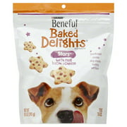 Purina Beneful Baked Delights Stars with Bacon & Cheese Dog Snacks 8.5 oz. Pouch