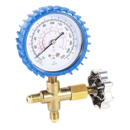 1/4NPT Thread Air Conditioner Refrigeration Brass Single Manifold Gauge Valve