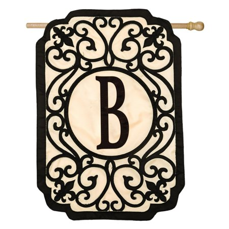 Evergreen Enterprises Filigree Monogram Garden Flag ()