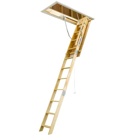 Werner W2210 10 ft. Wood Attic Ladder (54 in. x 22.5 in. Opening)
